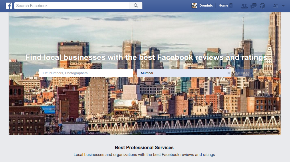 Facebook local businesses directory