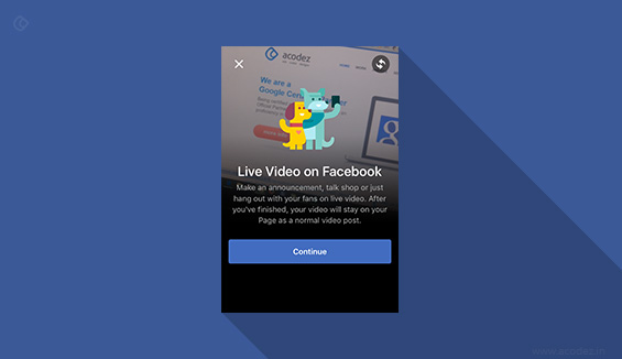 Facebook Live Broadcasting Pages