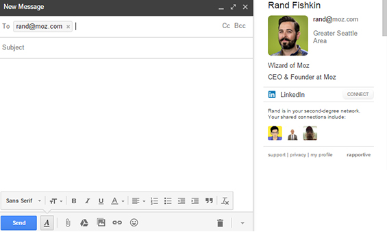 Rapportive Email Finder