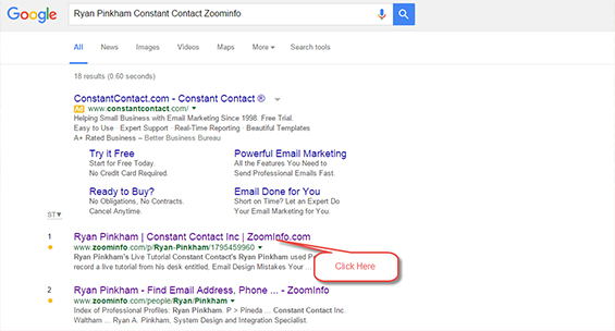 ZoomInfo Email Search