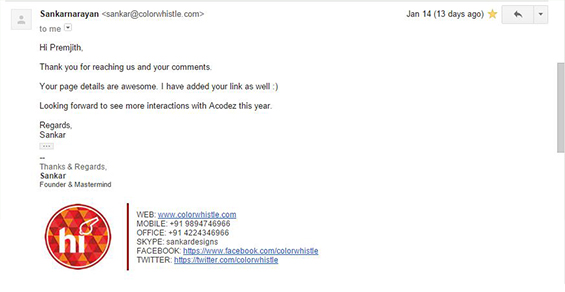 Email Outreach Reply