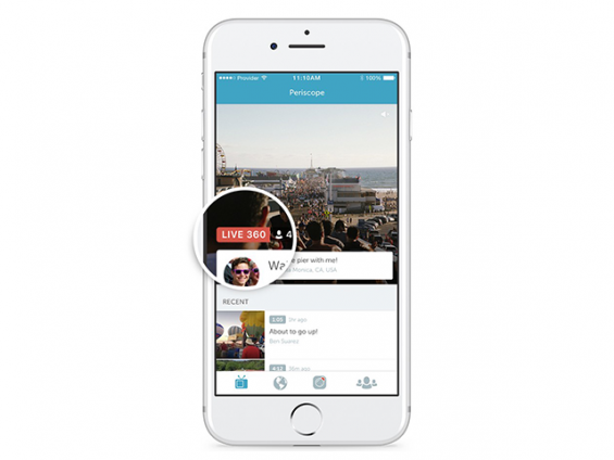 Periscope will now support Live 360 video